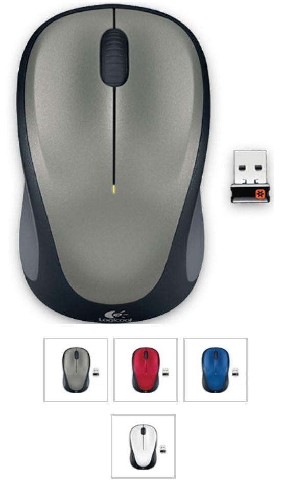 Logicool ロジクール ワイヤレスマウス M235r シルバー ロジクール